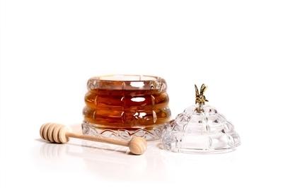 Bohemia Crystal Beehive Covered Honey Box 53312/69710 / 118mm - 3