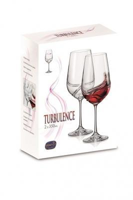 Bohemia Crystal Turbulence Wine Glass 350ml (set of 2 pcs) - 3