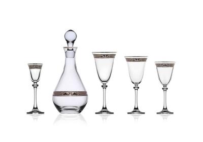 Bohemia Crystal karafa na víno, whisky, rum alebo pálenku 800ml - 4