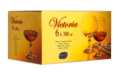 Bohemia Crystal Brandy- und Kognakgläser Victoria 380 ml (Set mit 6 Stück) - 4