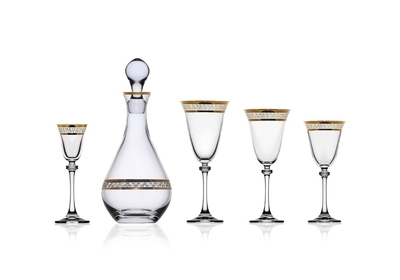 Bohemia Crystal Alexandra red wine glass 350ml (set of 6pcs) - 4