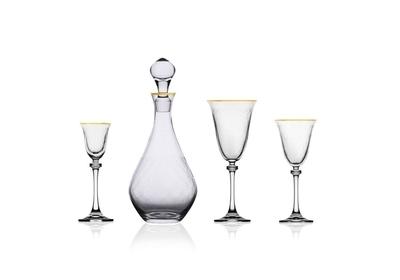 Bohemia Crystal Sklenice na bílé víno Alexandra 185ml (set po 6ks) - 4