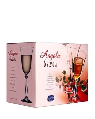 Bohemia Crystal Weingläser Angela Optic Gold Line 250 ml (Set mit 6 Stück) - 4