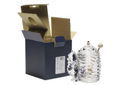 Bohemia Crystal Honey Covered Box Bear 53313/69710 / 150mm - 4