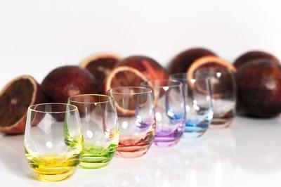 Bohemia Crystal Farebné poháre na pálenku Rainbow 25180/D4662/060ml (set po 6ks) - 4