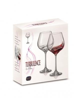 Bohemia Crystal Poháre na červené víno Turbulence 40774/570ml (set po 2ks) - 4