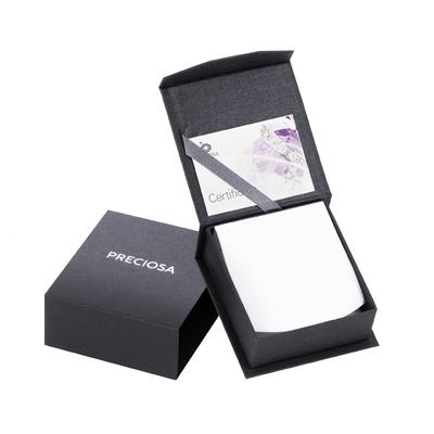 Bohemia Crystal Lyra Silver Earrings with Cubic Zirconia Preciosa 5265 56. - 4