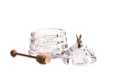 Bohemia Crystal Beehive Covered Honey Box 53312/69710 / 118mm - 4