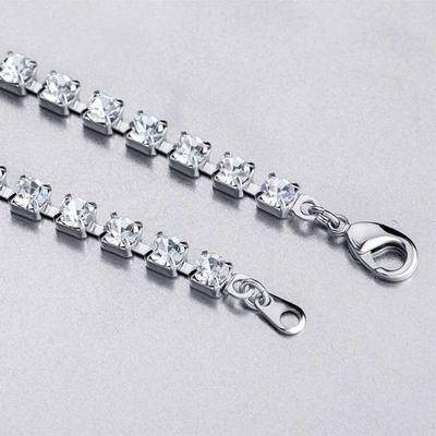Bohemia Crystal Štrasový náhrdelník srdce s českým krištáľom Preciosa - modrý  2025 46 - 5