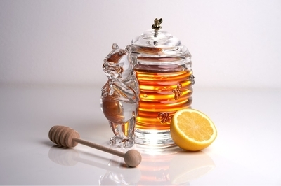 Bohemia Crystal Covered Honey Box Bear 53313/69710 / 150mm - 5