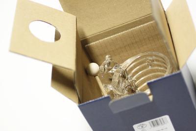 Bohemia Crystal Honey Covered Box Bear 53313/69710 / 150mm - 5