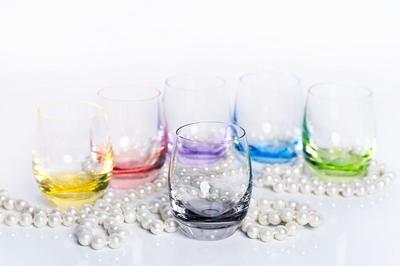 Bohemia Crystal Farebné poháre na pálenku Rainbow 25180/D4662/060ml (set po 6ks) - 5