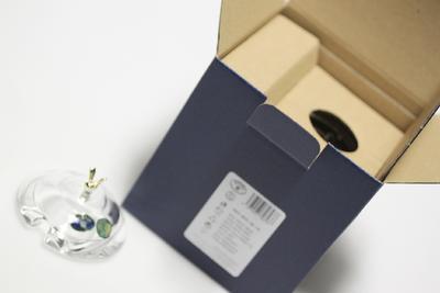 Bohemia Crystal Honey Covered Box Bear 53313/69710 / 150mm - 6